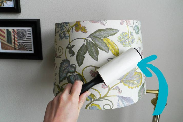 how to clean lampshade
