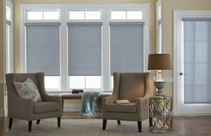 blinds.com economy roller shade in ice blue