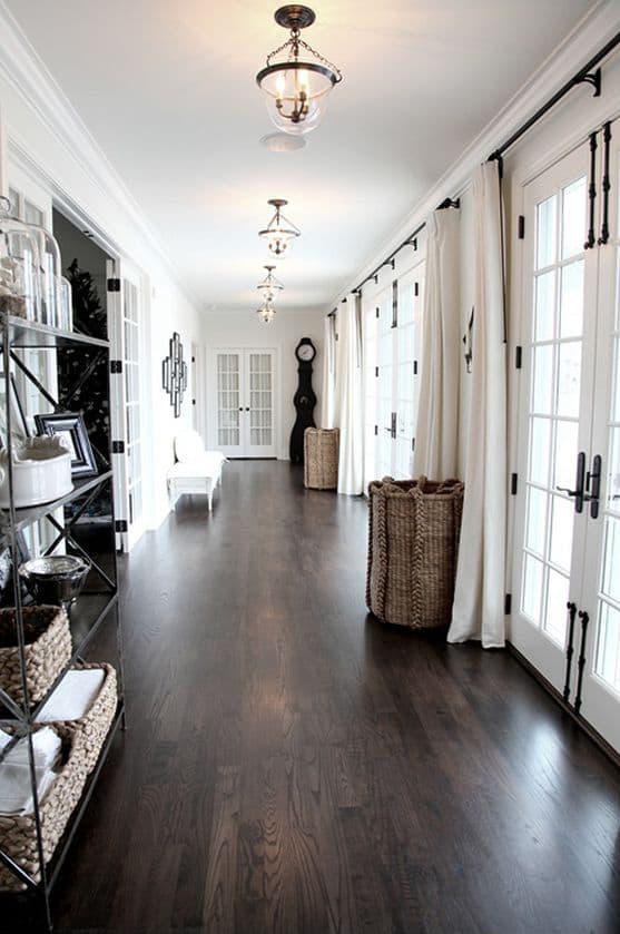dark wood floors hallway