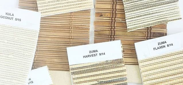 woven wood shade samples