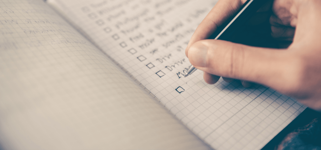 writing checklist for planning