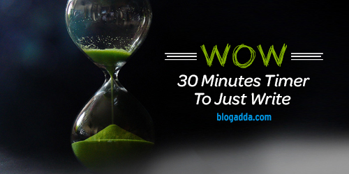 WOW - 30 minutes timer to just write!