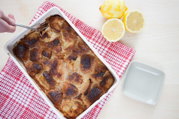 Five Ingredient Lemon Bread Pudding