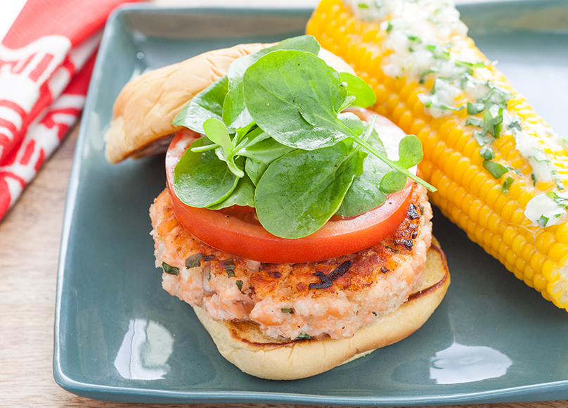 salmon burger lead