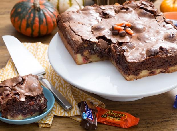 Halloween Candy Loaf Slice
