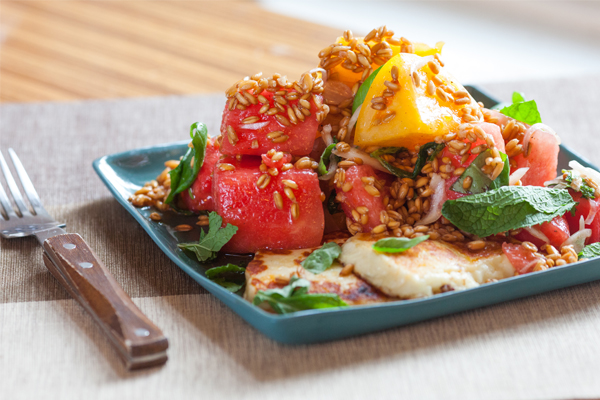 Watermelon and Halloumi Salad from Blue Apron
