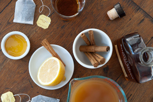 hot toddy with tea