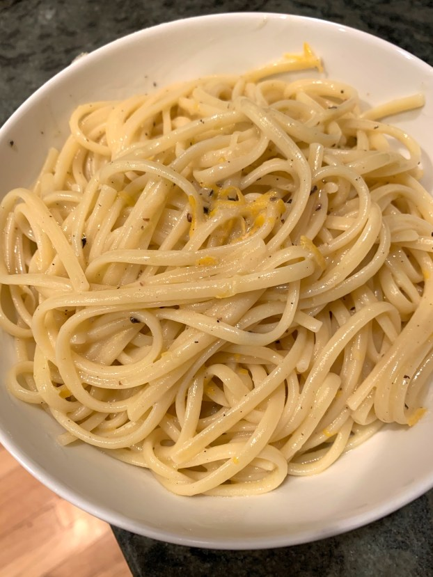 linguini with lemon sauce