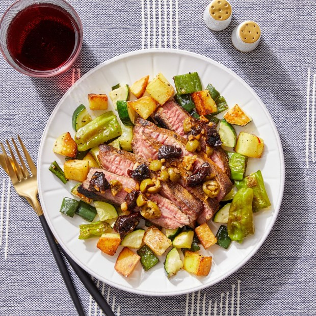 red wine with meat