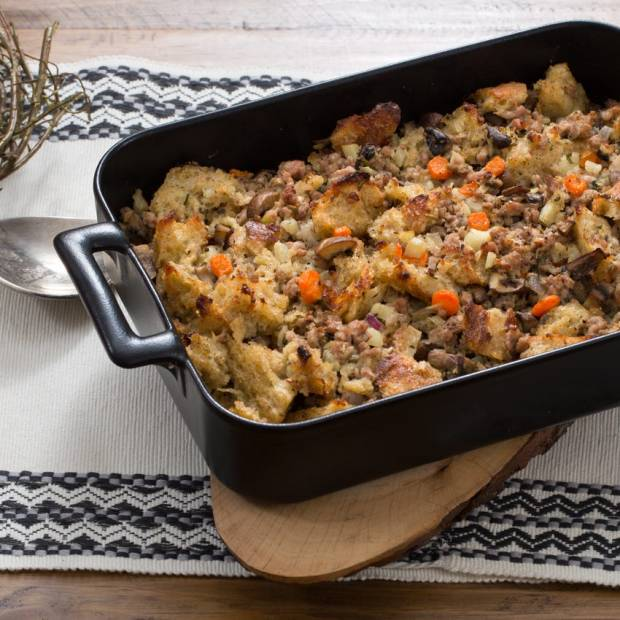 thanksgiving stuffing recipe with pork and mushrooms
