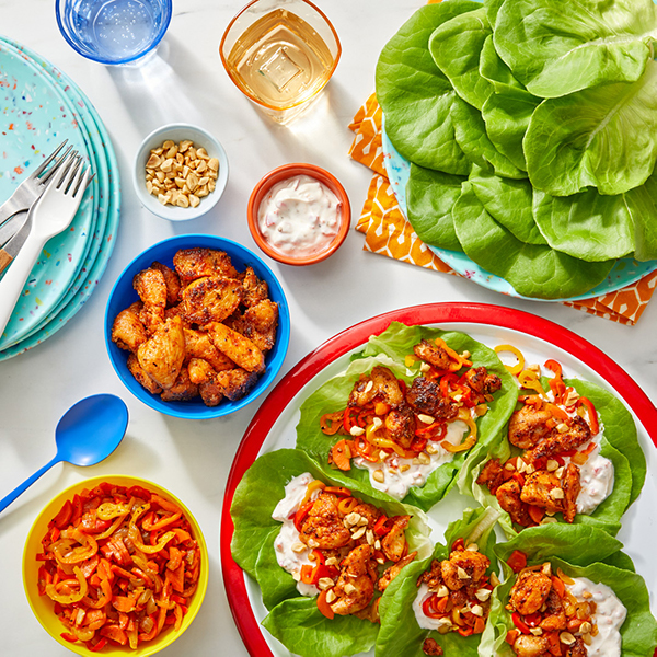 turkey lettuce cups to eat with your hands