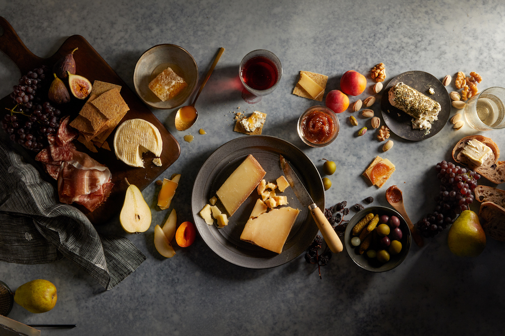 date night cheese plate