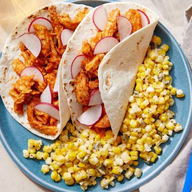 guajillo chicken tacos