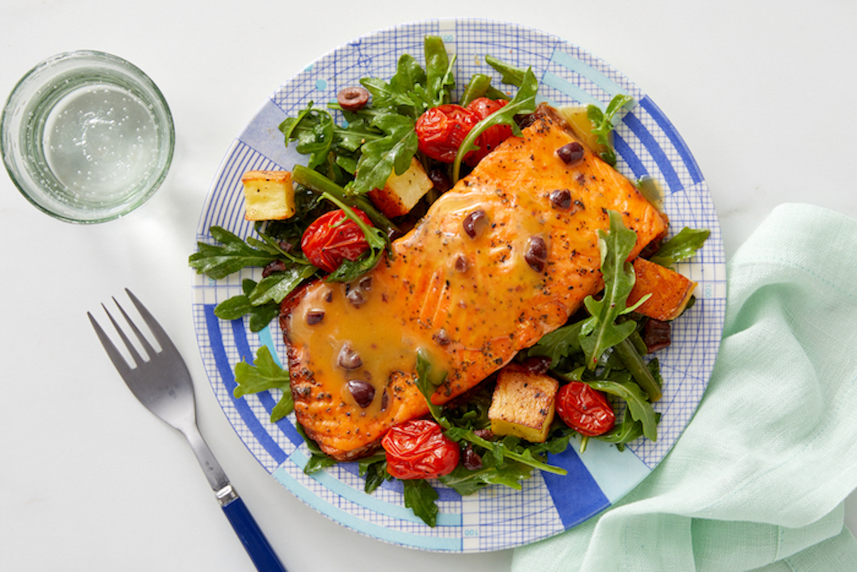 Prepared Salmon Dish from Pescatarian Meal Kit