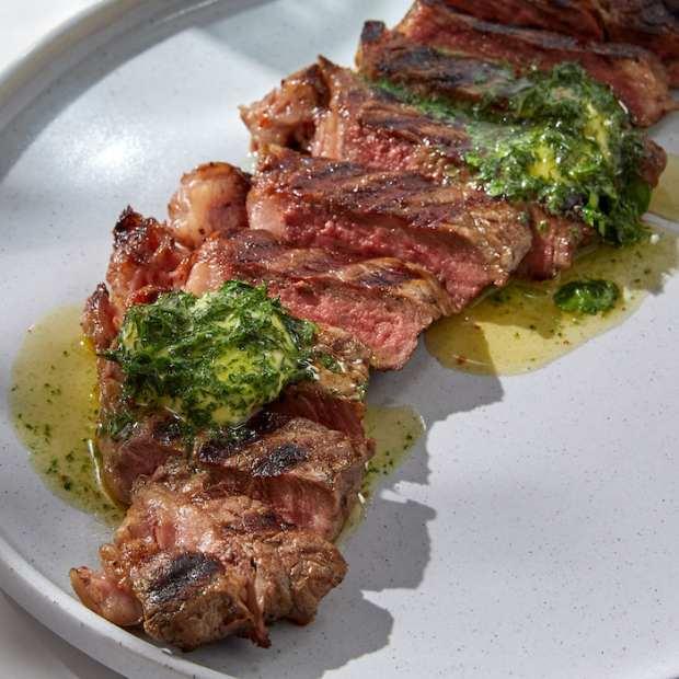 compound butter on steak