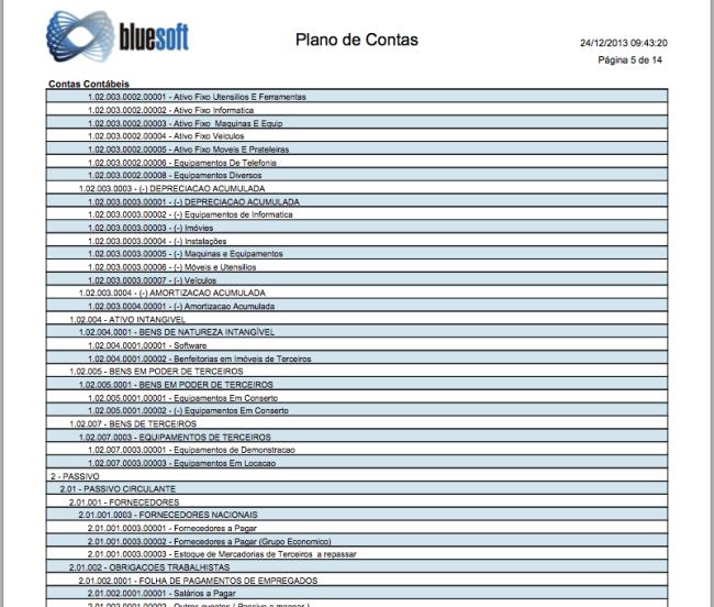 Plano de Contas em PDF