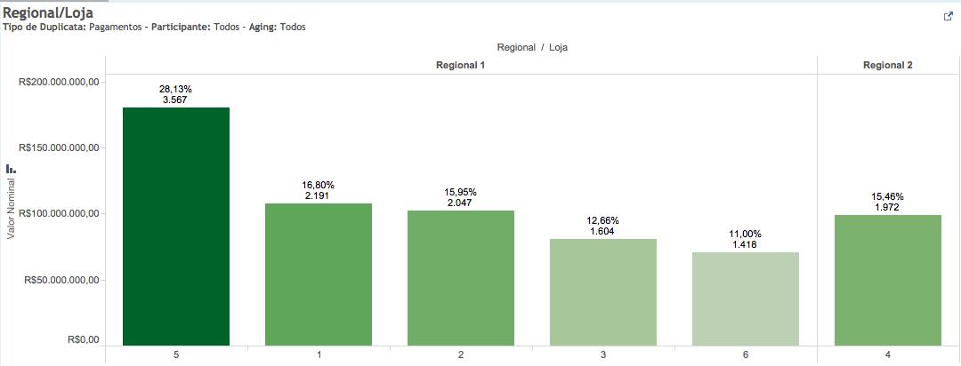 Ex: Visualização por Regional e Loja