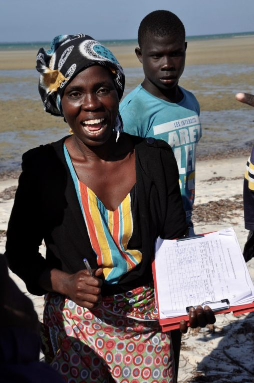 AMA technician Angelina during monitoring trials in her village Nsangue Ponta