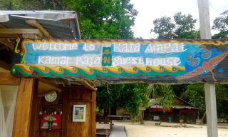 Photo of welcome to Raja Ampat sign