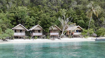 Photo of typical raja ampat homestay accommodation