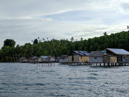 The Bajo, a formerly nomadic seafaring people, live in stilt houses