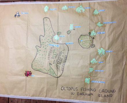 Mapping octopus fishing ground around Darawa Island