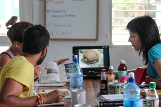 Learning coral species at the BV school