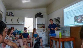 Presentation on lionfish | Photo: Sarah Harris