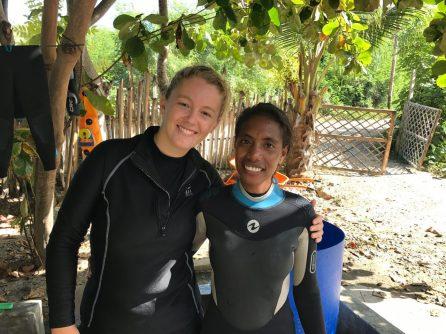 Jemima with Blue Ventures Field Scientist Jenny House | Photo: Christina Saylor