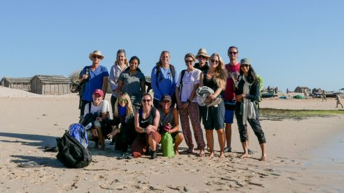 Blue Ventures volunteers and staff on Nosy Vé prior to the opening