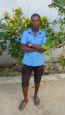 Angelot at the Blue Ventures office in Toliara