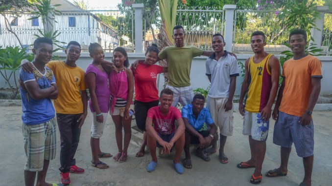 All of the students currently studying at the University of Toliara that are supported by a Blue Ventures scholarship