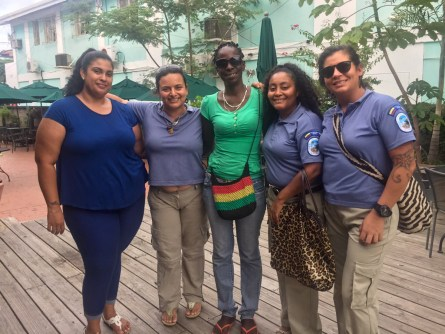 Meeting with the Belize Lionfish Jewelry Group board