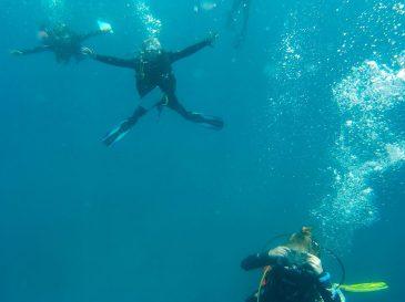 Descending into the blue   Photo: Hina Morjaria