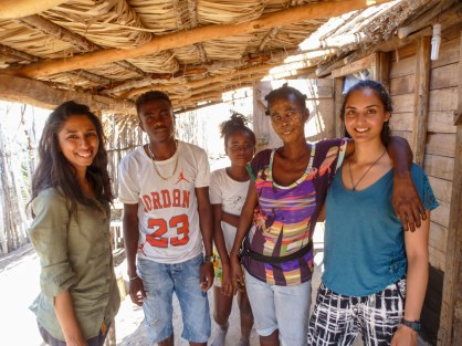 Hina and her homestay family   Photo: Hina Morjaria
