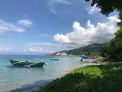 View of Beloi Village beach and pier
