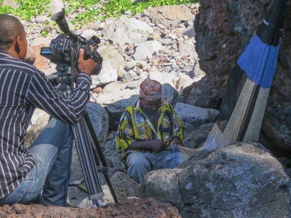 Filming on location in Vassy