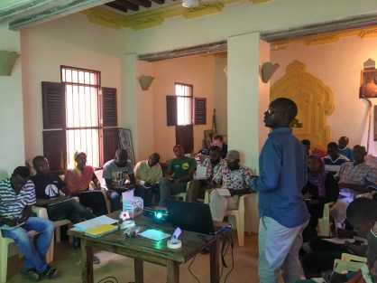 Hassan from NRT-Coast presenting their conservation work