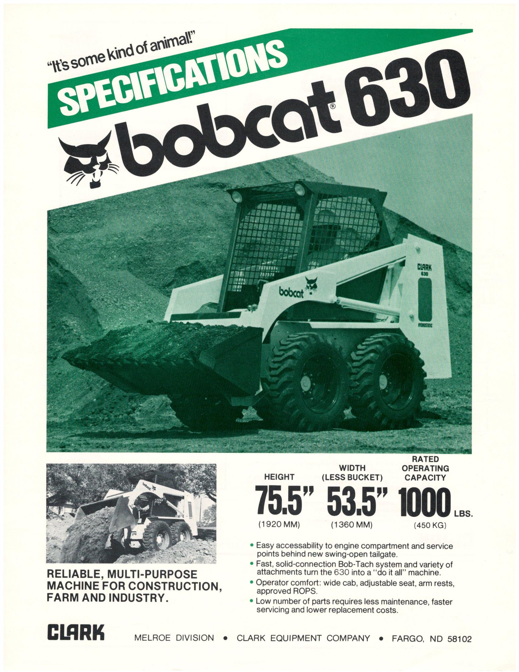 bobcat 630 and 632 spec sheets 1980 rh blog bobcat com