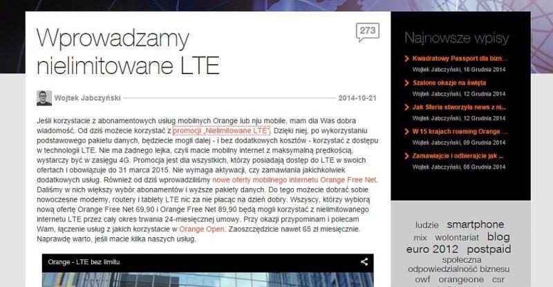 lte - blog orange