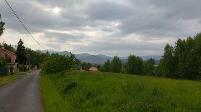 Podjazc z Decina i panorama Gór Łużyckich