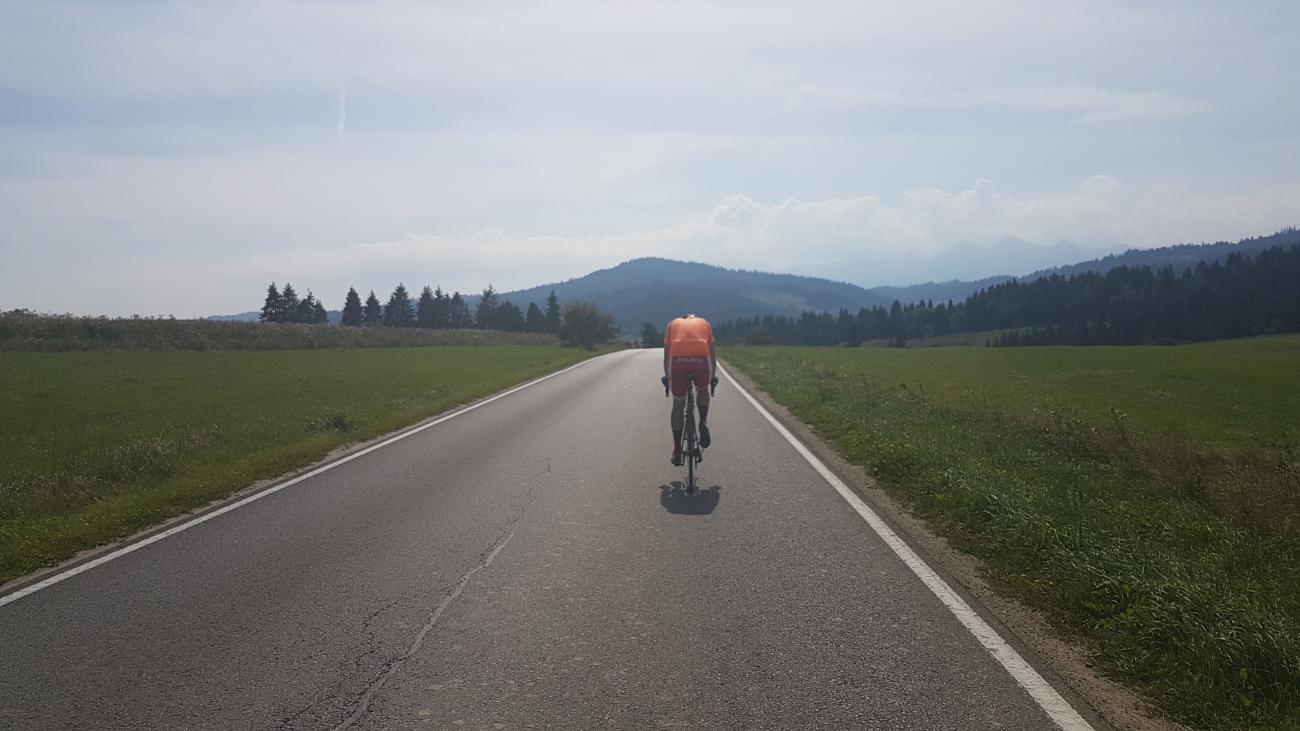 W drodze do Łapszach Wyżnych