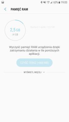 Samsung Galaxy S7 - zarzadzanie pamiecia