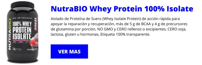 NutraBIO Whey Protein 100% Isolate