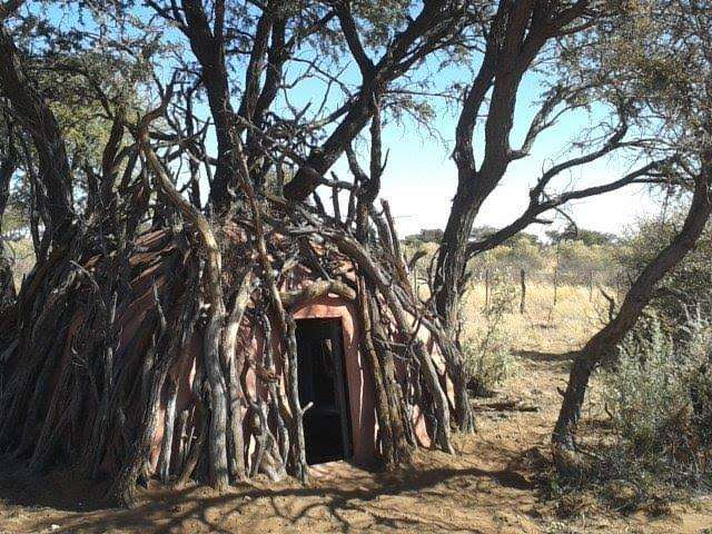 "A stationary ""pit"" blind built in Africa for bowhunters"