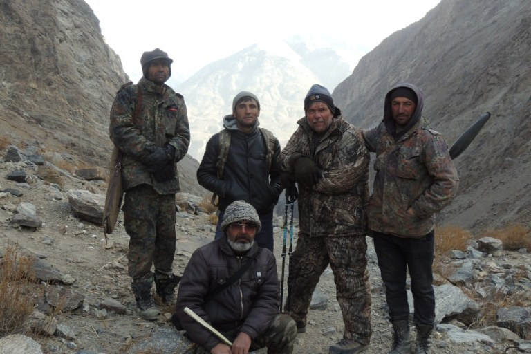Successful mountain hunting depends on a good team of guides.