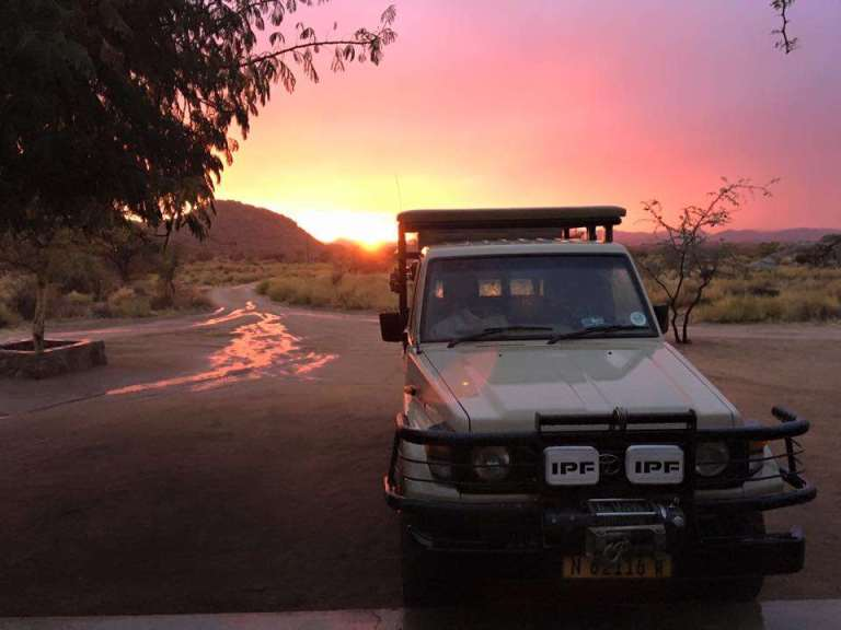 14 africa jeep at dusk