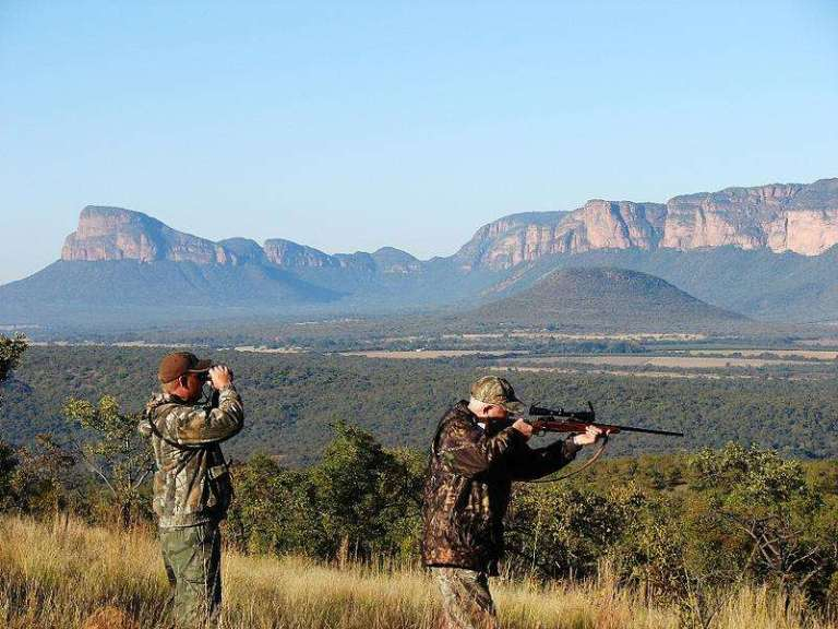 A hunter and a PH in Africa