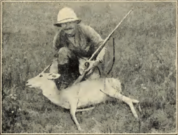 The author with a Mongolian Gazelle he shot