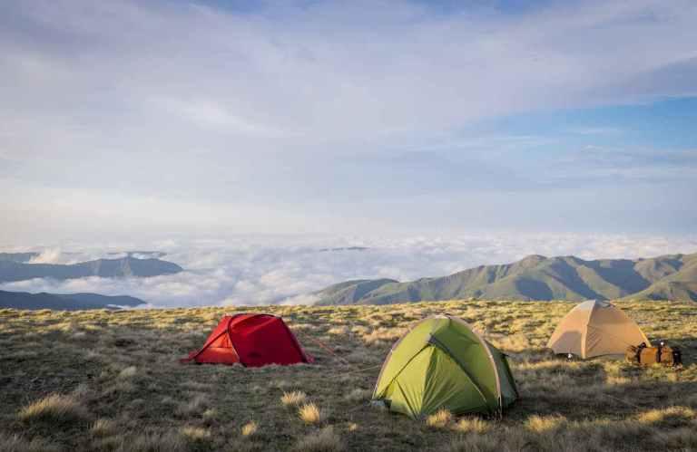 a spike camp on a tur hunt